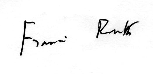 Francis Routh signature